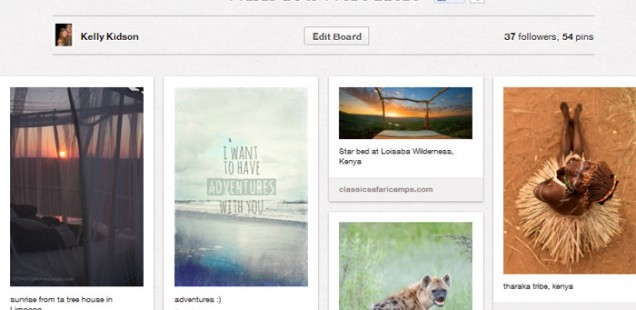 Travel Through Pinterest