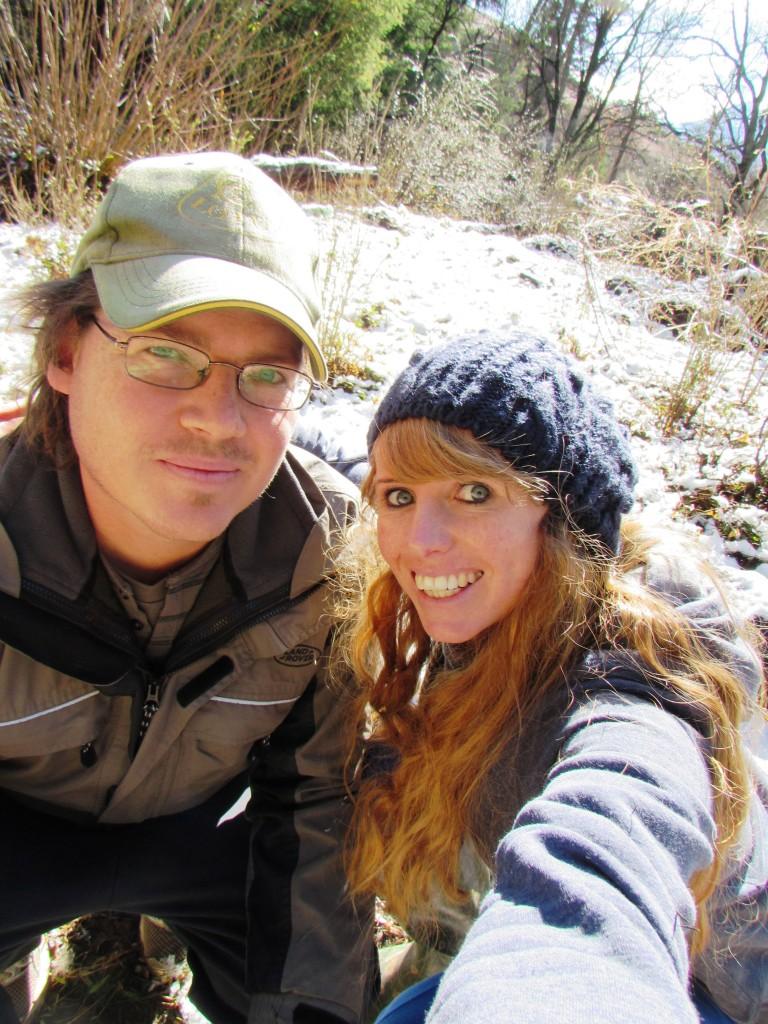 snow selfies