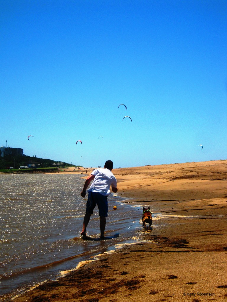 kites at La Mercy Lagoon