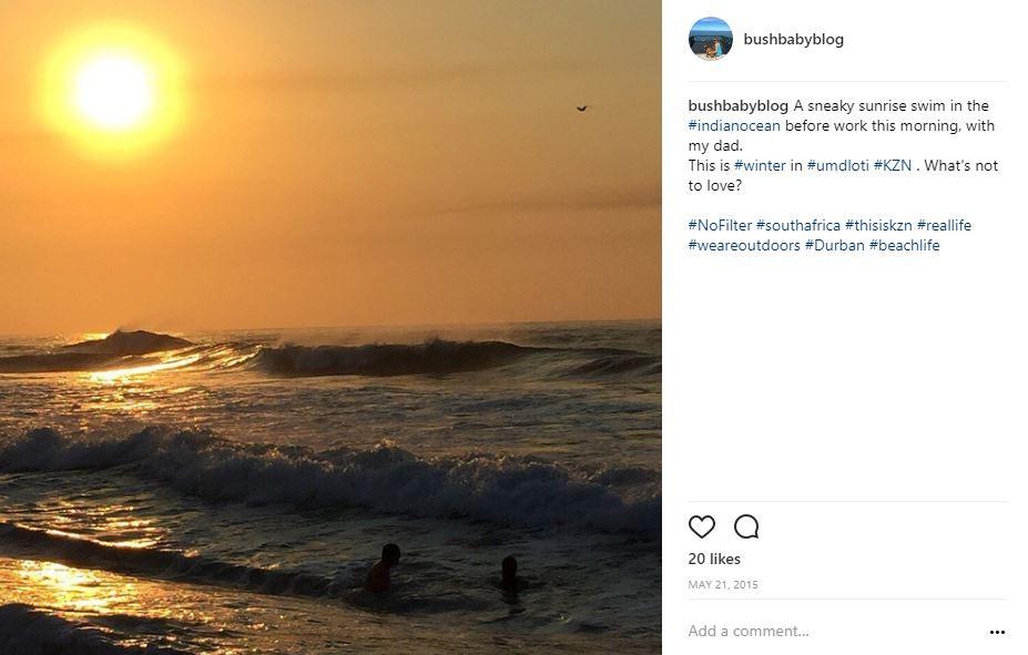 Sunrise swims at Umdloti Beach