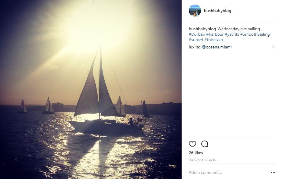 Sailing in Durban Harbour