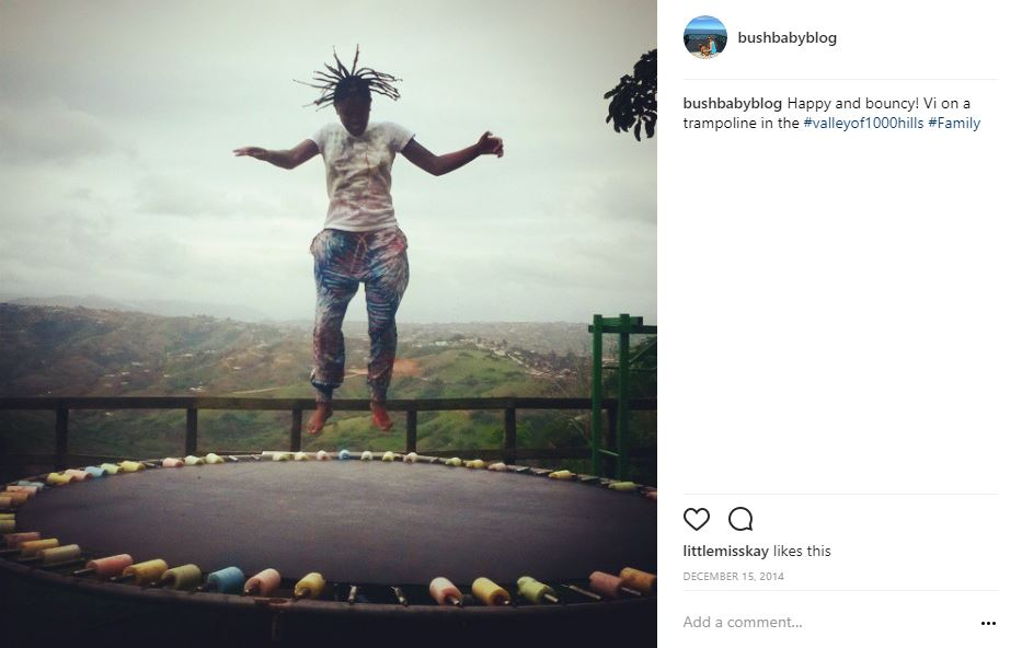 Trampoline jumping for joy in the Valley of 1000 Hills