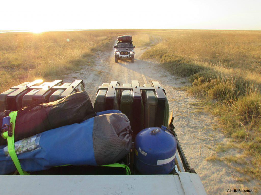 Rooftop camping Botswana