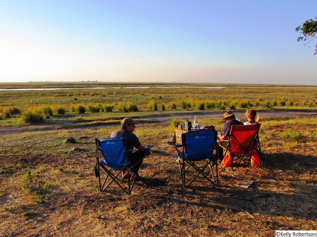 Ihaha campsite view over Caprivi strip