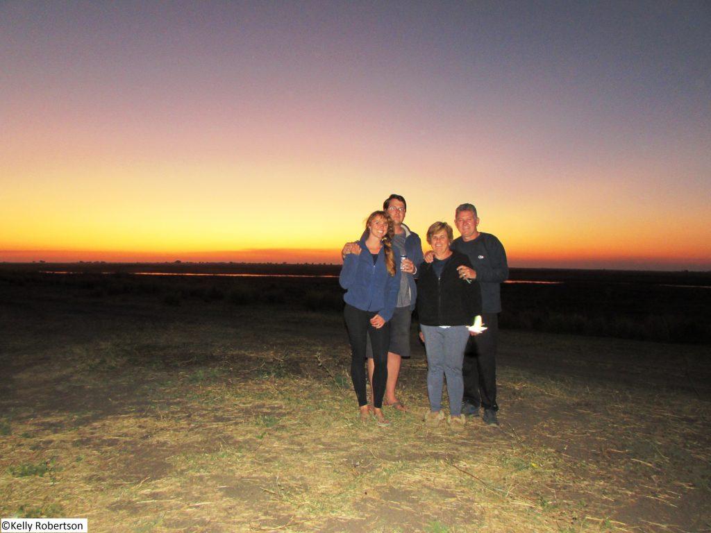 sunset at Ihaha Camp, Botswana