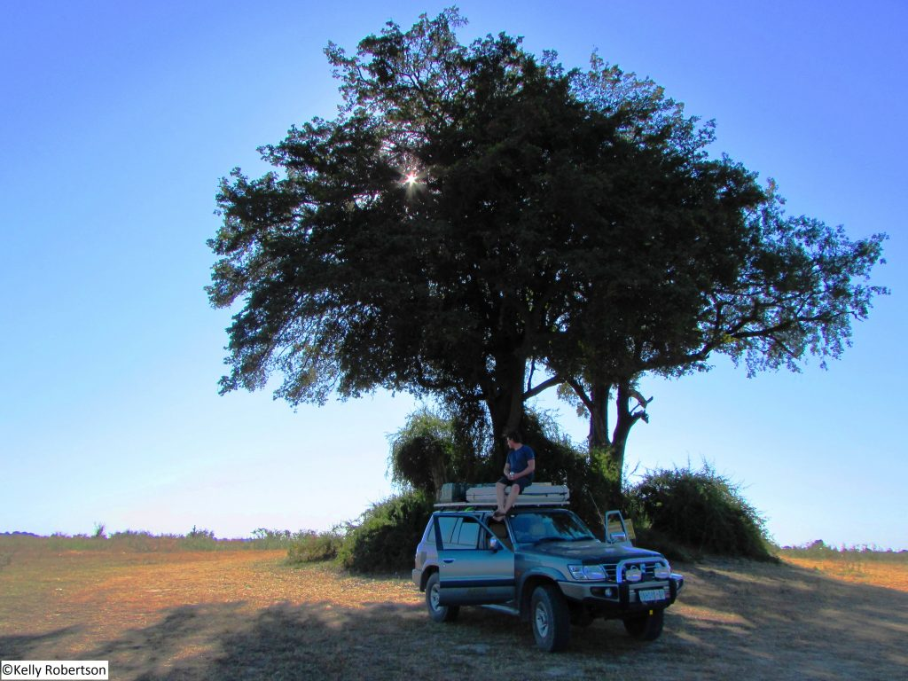 Nissan Patrol at Phuku Flats stretch point, Chobe National Park