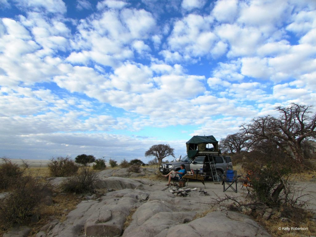 Kubu Island camping, Botswana