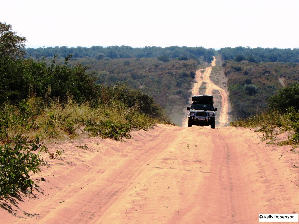 offroad in Botswana, Pajero