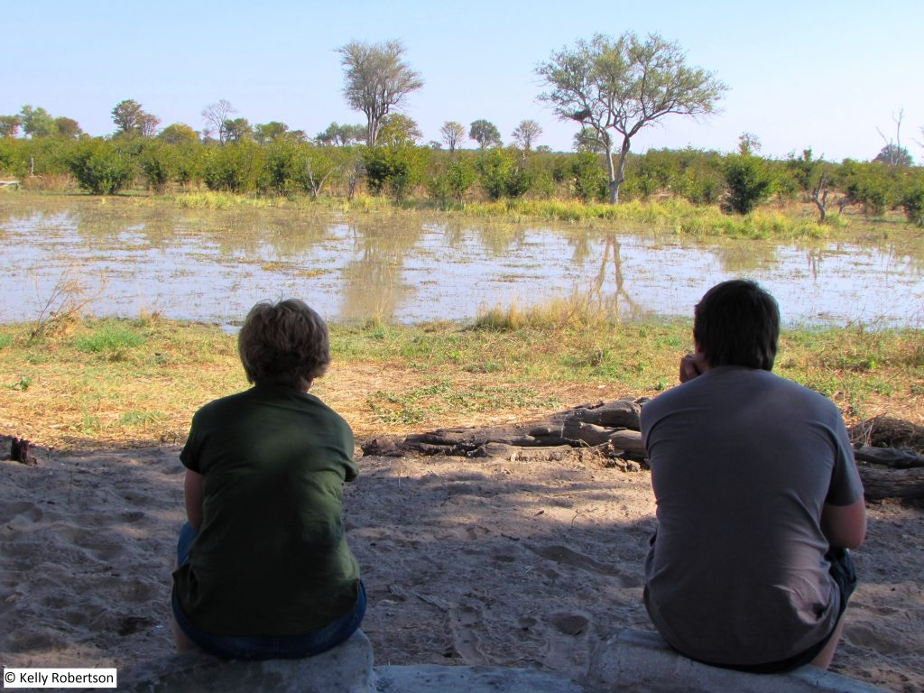 Dizhana camp, with our own view of the Delta channel.