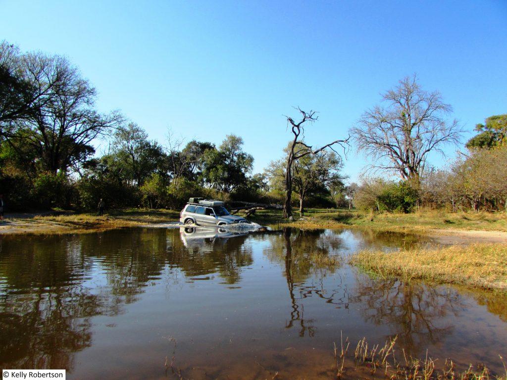 Nissan Patrol river crossing Khwai Botswana