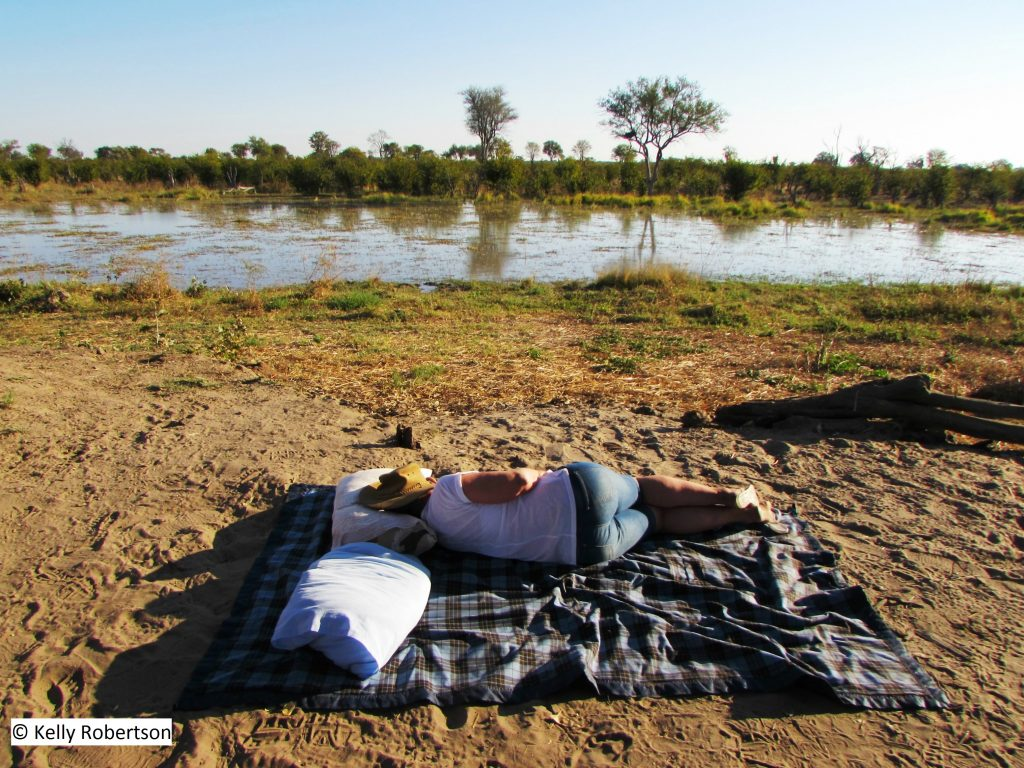 Resting at Dizhana Camp, Botswana