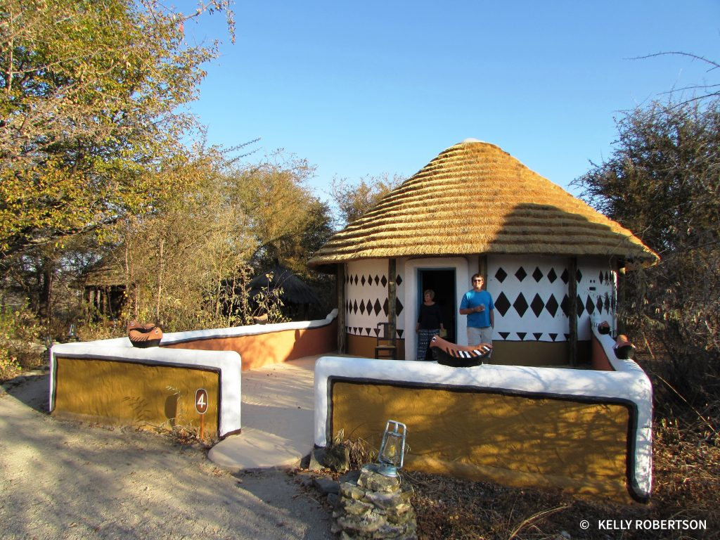 Rondavel hut at Planet Baobab