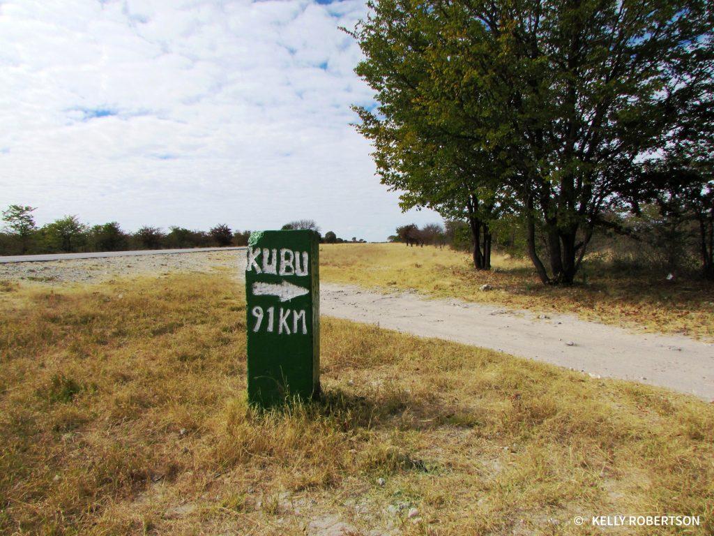 Kubu Island sign